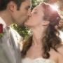 Фотография свадебного поцелуя влюблённых в Сочи